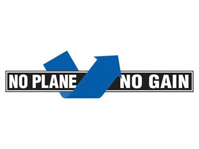 NO PLANE NO GAIN Logo